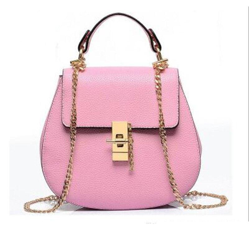 ФОТО Women's Luxury handbag brand Small Black Pink Beige Red bags Chain lock zipper ladies Clutch Sweet Pu Leather Pig Messenger Bags