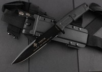 VENOM Camping Tactical Knife N690 Blade Rubber Handle Hunting Fixed Knife Survival Knives