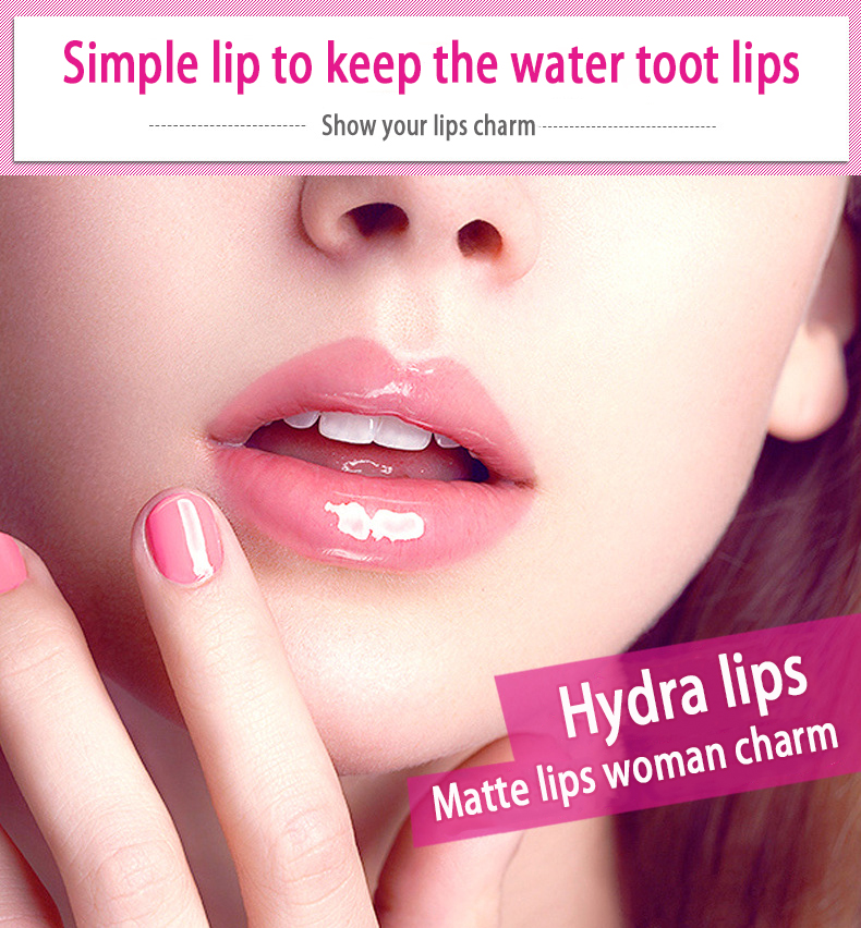 BIOAQUA Exfoliating Gel / Lip Film /Jelly Liquid Lipstick Lip Care Set Beauty Makeup Liquid Lipstick Pink Tender Moisturizing 27
