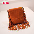 Fashion Tassel Zipper Crossbody Bags For Women Crossbody Shoulder Bag Hot Sale Nubuck Women Messenger Bag Lady Fringe Handbag