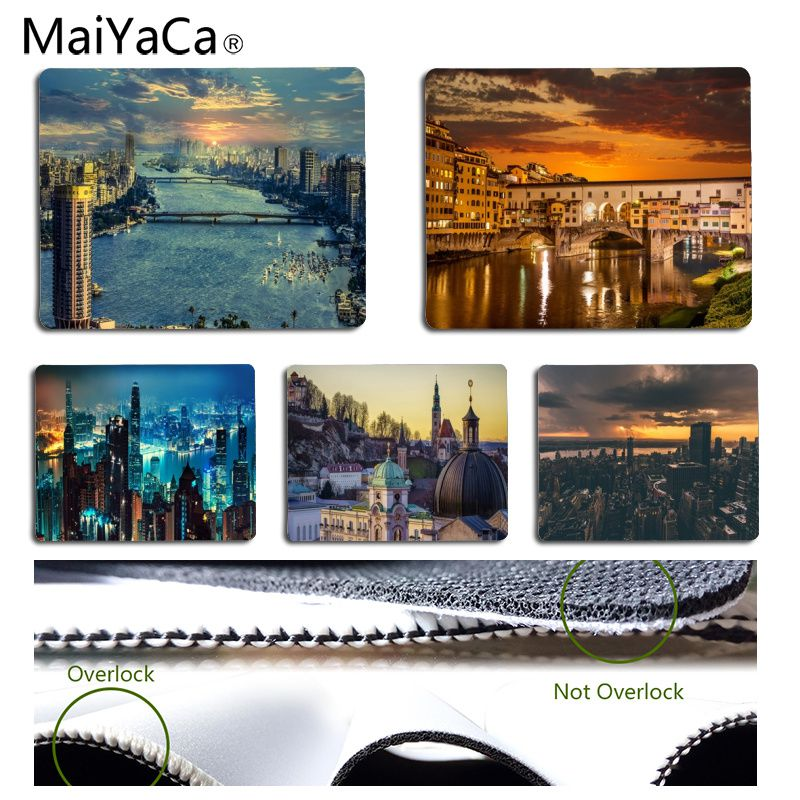 MaiYaCa New Design Beautiful scenery of the city Customized laptop Gaming mouse pad Size for 18x22cm 25x29cm Rectangle Mousemats