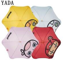 YADA Cartoon Mushroom Panda Automatic Hight Quality Umbrella For Women Men Anti-UV Portable Transparent Umbrellas Parasol YS612