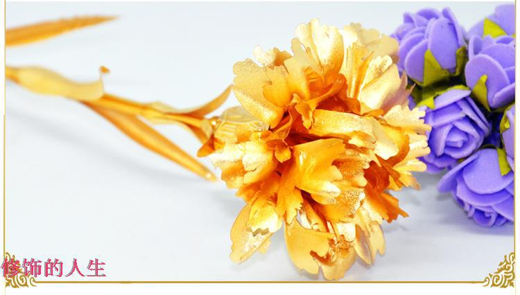 Oro plateado oro Clavel con amor stand marco decoración Día de la ...