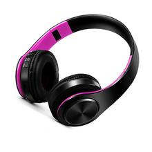 Stereo Bluetooth Headphones With Mic Casque sans fil Support AUX 3.5 jack TF Card FM Radio Portable Earphone For Gamer Girl Gift