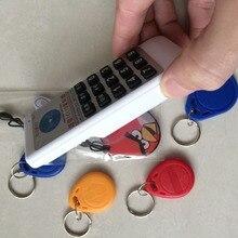 Ручной RFID NFC Копир ID/IC Читатель Писатель + 5×125 КГЦ T5577 Брелков 5×13.56 мГц UID Карты + 2×250 кГц/375 кГц/500 кГц Ключевые Теги