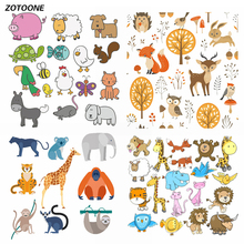 ZOTOONE Colored Animal Set Iron on Transfer Patches for Clothing Beaded Applique T Shirt Clothes Decoration DIY Kids Gift G