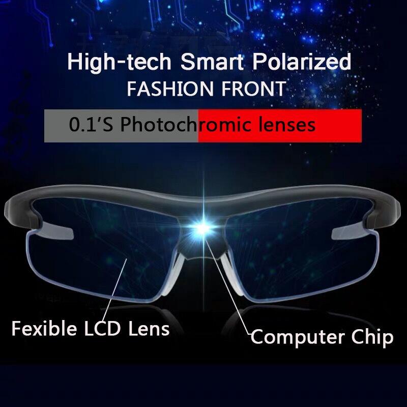 Intelligent Photochromic Sunglasses Men 2019 Frontier Decoration Sunglass Designer Glasses Women High Quality Prescription Clips