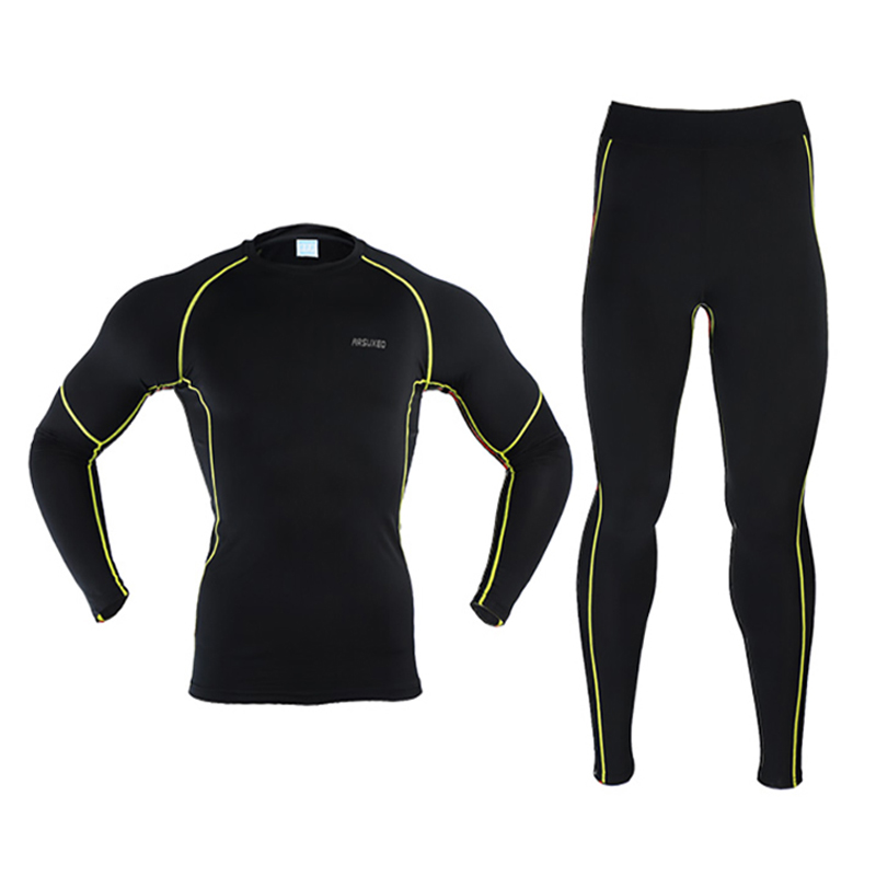 Conjuntos de roupa interior de esqui térmico longo johns aquecer homens jaqueta de neve e calças secagem rápida para esportes ao ar livre inverno