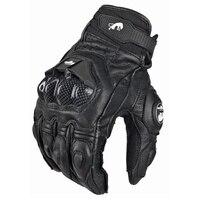Models top racing gloves motorcycle gloves leather carbon Motos Sports Motorbike Full Finger Men Women black white M L XL