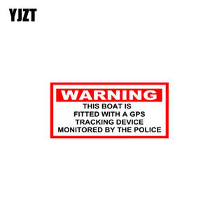 YJZT Linked Car-Sticker Police Decals Attention with GPS BY PVC Vehicle Is-Fitted C1-3051