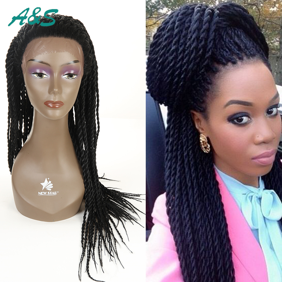 Best quality synthetic front lace kinky twist wig 130%