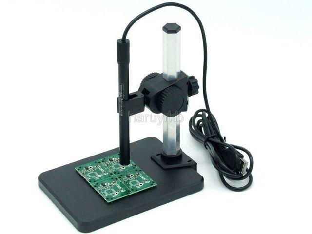 Zoom contínuo 1-600X HD USB Microscópio Digital Endoscópio lupa Câmera de Vídeo de detecção de Imagem para a Manutenção + Suporte