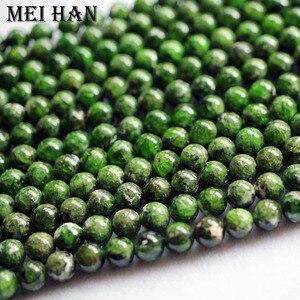 Image 5 - Meihan verde natural de diópsido de cromo 7 + 0,2mm Lisa redonda cuentas de piedra sueltas para fabricación de joyería DIY diseño