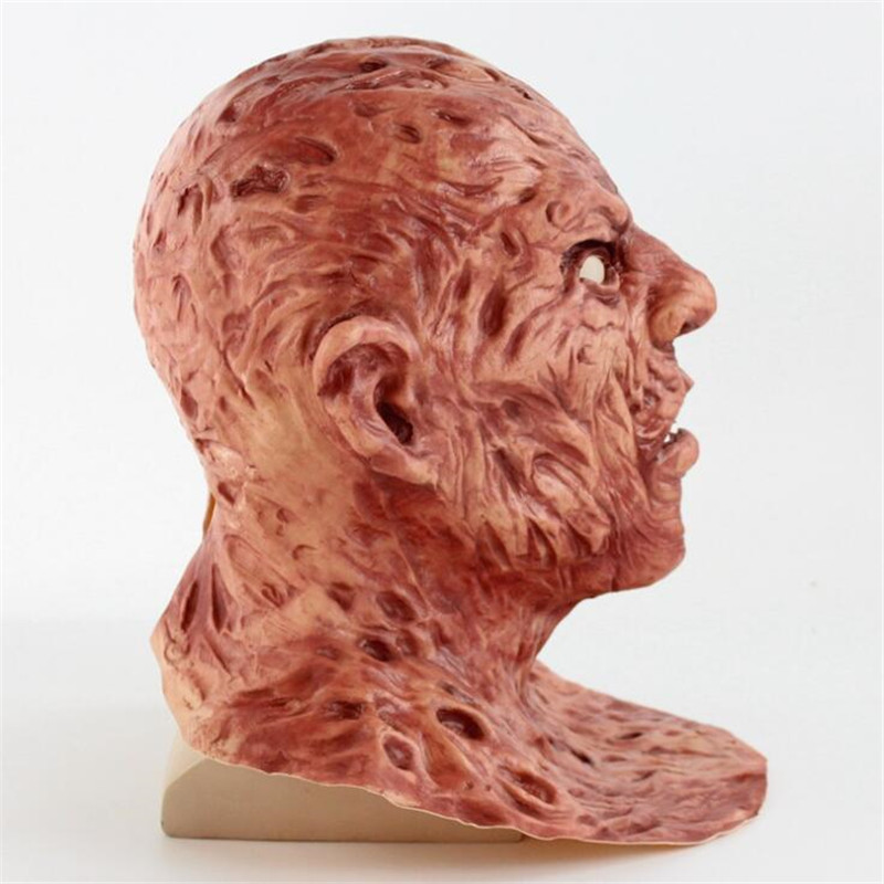 Image 3 - Realistic Adult Party Costume Horror Mask Deluxe Freddy Krueger Mask Scary Dance Carnival Cosplay Zombie Mask-in Party Masks from Home & Garden
