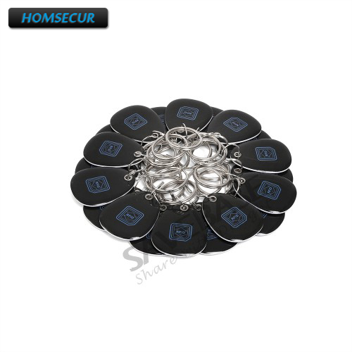 HOMSECUR 20pcs Epoxy PVC IC Tag/Card/Key/Keyfobs For Access Control IC Reader 13.56Mhz
