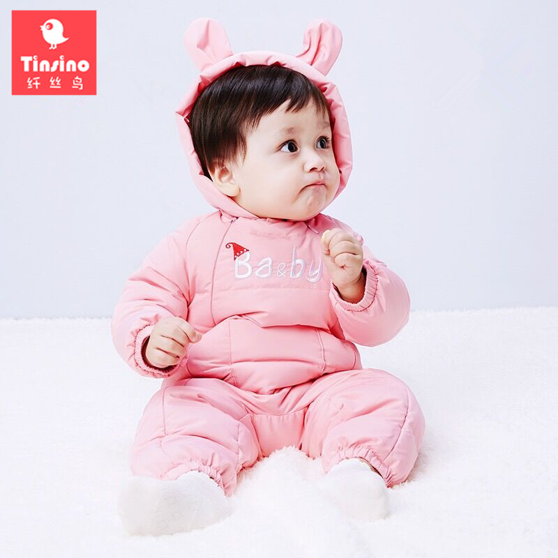 Tinsino Newborn Baby Girls Boys Down Rompers Infant Winter Hooded Rompers Toddler Warm Jumpsuits Baby Cute Down Clothing cotton baby rompers set newborn clothes baby clothing boys girls cartoon jumpsuits long sleeve overalls coveralls autumn winter