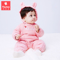 Tinsino Newborn Baby Girls Boys Down Rompers Infant Winter Hooded Rompers Toddler Warm Jumpsuits Baby Cute