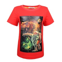 New Old Jurassic World dinosaur Children Kids Shorts Tops Tees T Shirt Fille Summer Teenager Boys Dragon T-Shirt For boy 3-9Year