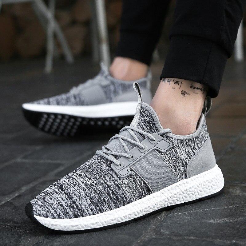Men's vulcanize shoes patchwork elastic band designer sneakers for men sneakers hard wearing damping fashion footwear man