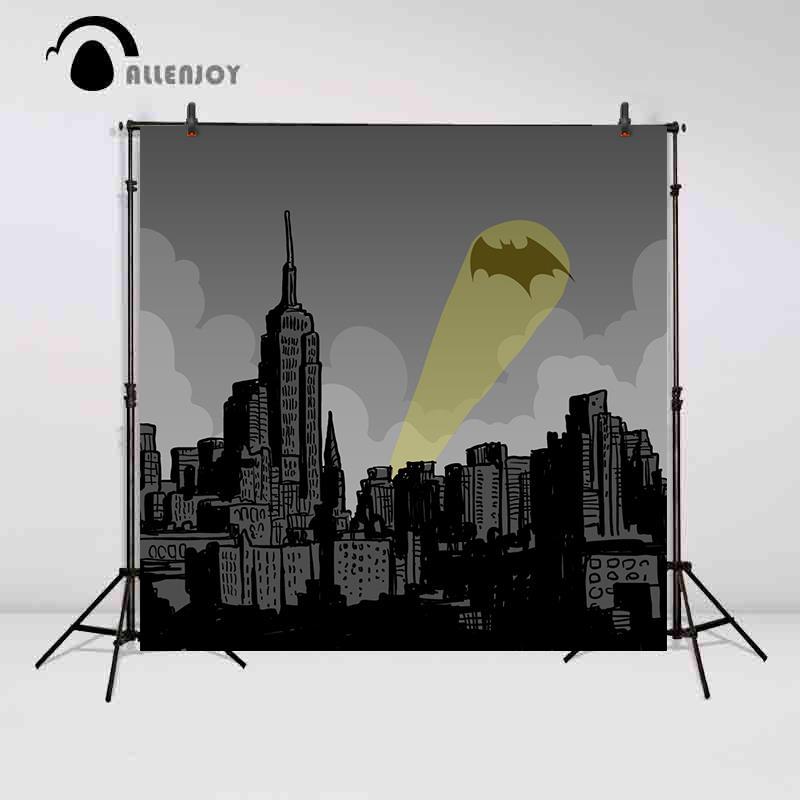 Allenjoy backgrounds for photo studio children Party Super Hero City Night decor photography photo backdrop photo background