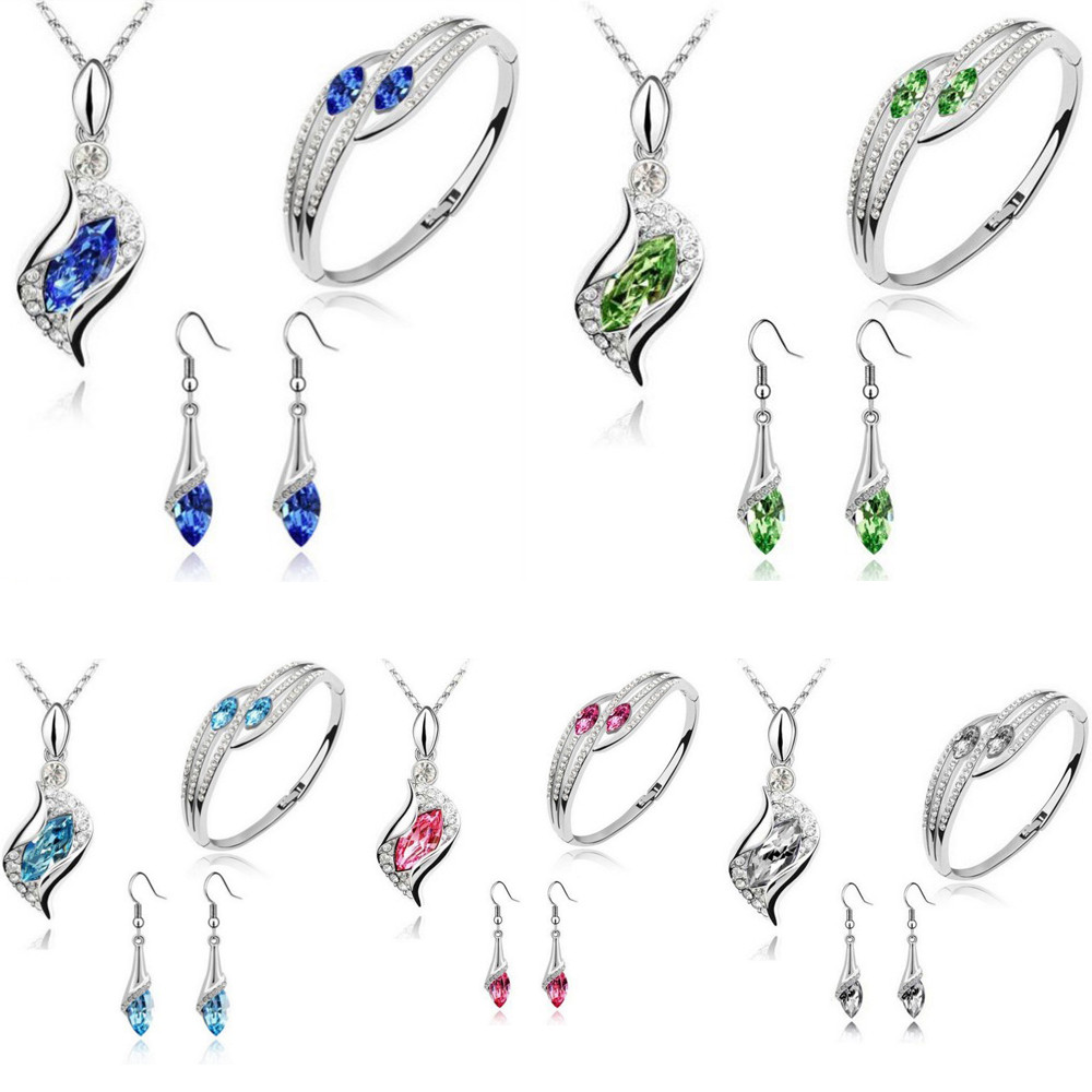 2018 Fashion Style Jewelry Crystal Chic Eyes Drop Necklace
