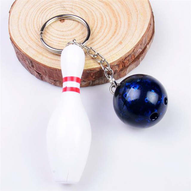 US $1 37 21% OFF|4 Colors Cute Mini Bowling Ball Keychain For Women Men  Sports Lovers 7cm Keyring Key Chain Rings Jewelry Best Gifts-in Key Chains