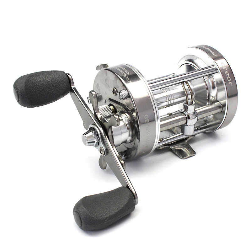 Full Metal Strong Trolling Fishing Reel Double Brake Drum Wheel Casting Sea Baitcasting Reels Coil 4