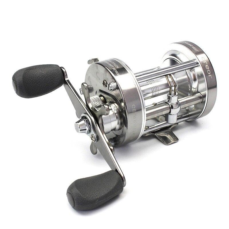 Plein métal fort pêche à la traîne bobine Double frein tambour roue coulée mer Baitcasting moulinets bobine 4.2: 1 vitesse Max glisser 20 kg S4