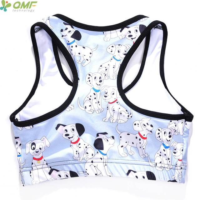 placeholder The 101 Dalmatians Sports Running Bras White Pongo Yoga Bra  Padded Cute Cartoon Puppy Dogs Running 6973c5b38