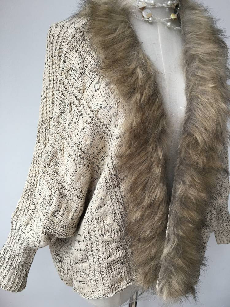 lady spring autumn sweater with fur (5)