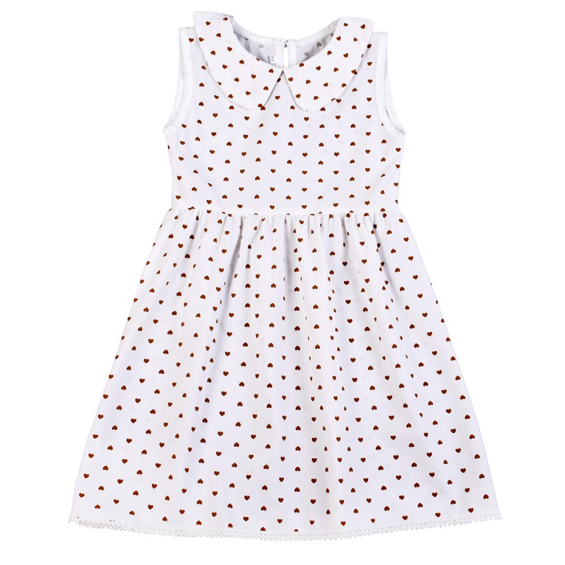 2017 New Summer Toddler Kids Baby Cute Dot White Girls Dress Sleeveless Princess Party Dresses prom dress wedding dress 2017