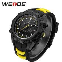 лучшая цена WEIDE Genuine Mens Quartz Watches Top Brand Luxury Alarm Clock Waterproof Sport Wristwatch Analog Digital Electronic LCD Watch