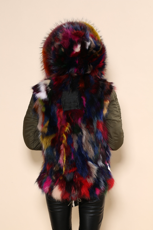 Mode Colorfur Grand Vraie Qualité Hommes Populaire En Manteau Chapeau Hiver Jours Des Fourrure Femmes De La Et Haute Uwwqpv