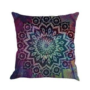 Image 5 - Разноцветная льняная наволочка с геометрическим рисунком 45 см * 45 см, удобная диванная квадратная наволочка для подушки, украшение для дома