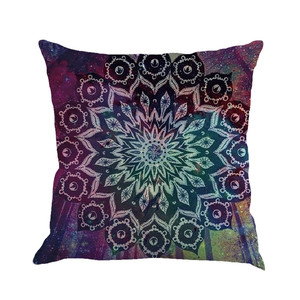 Image 5 - Geometry Painting Multicolor Linen Cushion Cover 45cm*45cm Comfortable Sofa Square Throw Pillow Cover Bed Home Decoration