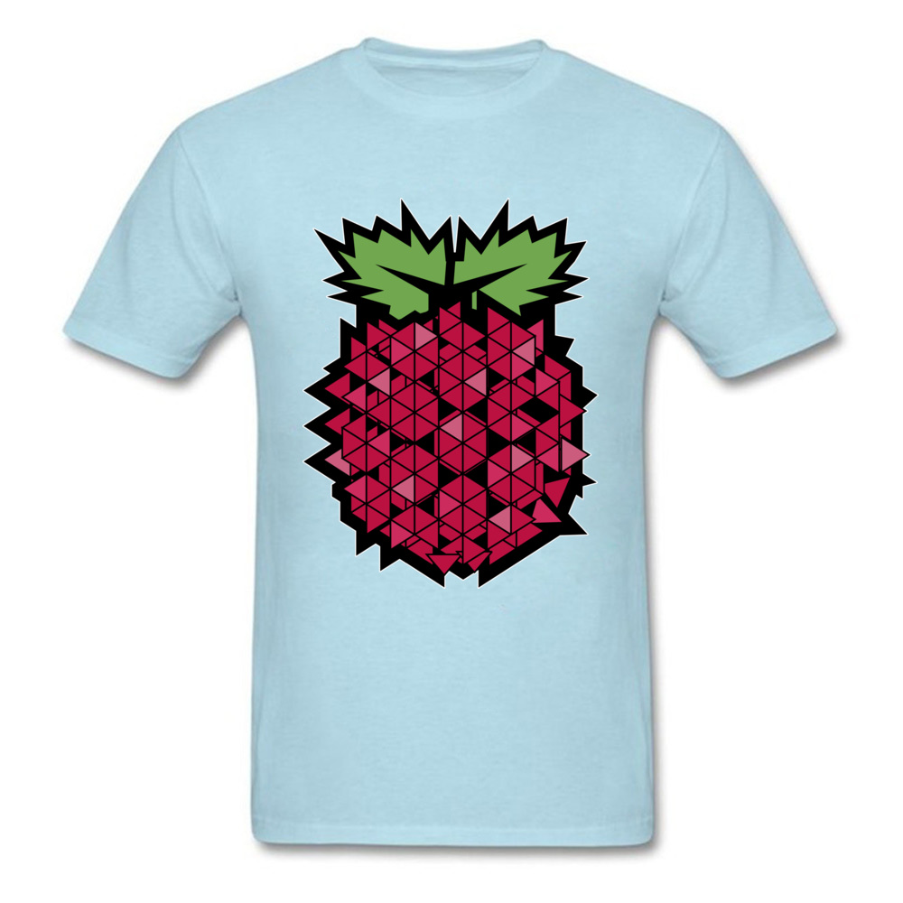 Tops T Shirt Tops & Tees 3D Printed Summer Autumn Short Sleeve 100% Cotton Fabric Round Neck Men's T-shirts Casual New Fashion Geometric raspberry  fruit food art light