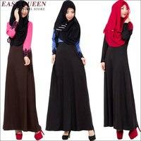 נידה אופנה העבאיה שמלה מוסלמית בגדים אסלאמיים Jilbab העבאיה מוסלמית נשים בדובאי Djellaba חלוק Musulmane AA1428