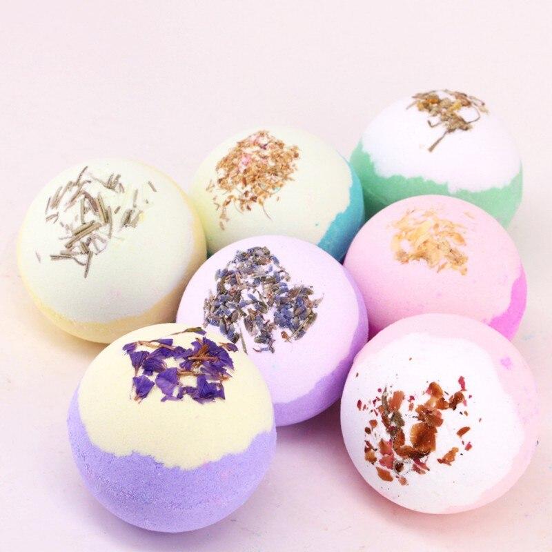 Dry Flower Moisturizing Bubble Bath Bomb Ball Essential Oil Bath SPA Stress Relief Exfoliating Bath Salt Bathing 2018 Product