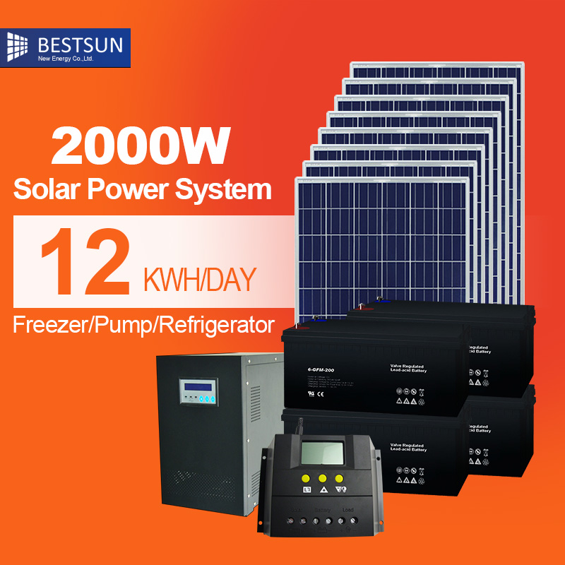 High Quality Off Grid Solar System 2kw Energy Products