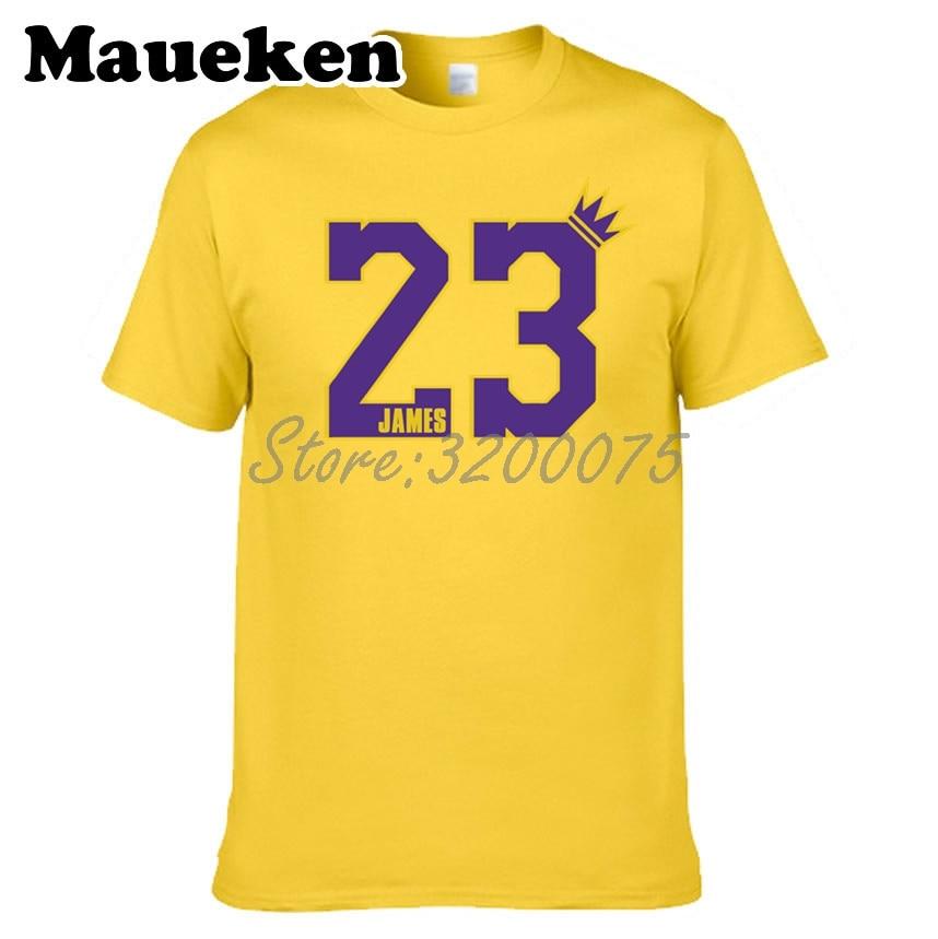 super popular 2d8c0 1cf78 US $18.88 |Men King GOAT 23 LeBron James T shirt Los Angeles LA Cleveland  Clothes T Shirt Men's tshirt for fans tee W18052105-in T-Shirts from Men's  ...