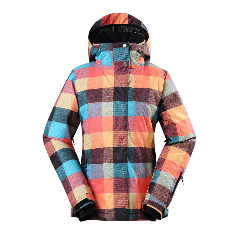 все цены на GSOU SNOW Women's Double Single Board Ski Suit Winter Windproof Waterproof Wear-resistant Warm Ski Jacket For Women Size XS-XL онлайн