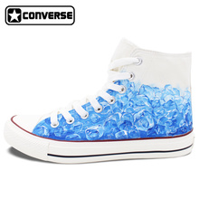Water Ice Cube Custom Design Hand Painted Shoes Converse Original Canvas Sneakers Brand Men Women Skateboarding Shoes