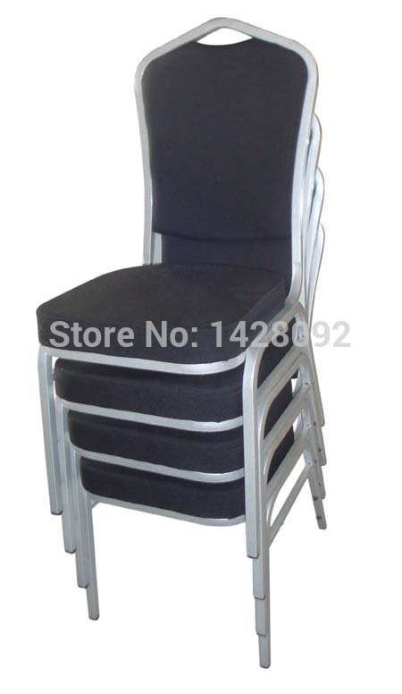 Wholesale Quality Cheap Strong Stackable Black Metal Hotel Chairs LQ-T1030B