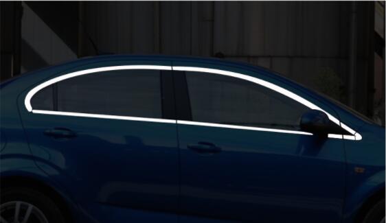 11 14 для Chevrolet Aveo (три отсека транспортного средства) Специальное украшение окна полоса модификации