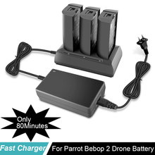 Bebop 2 Charger For Parrot Bebop 2 Drone/ FPV Battery 3 In 1 Super Fast Charger Adapter For Parrot Bebop 2 Drone accessories цена