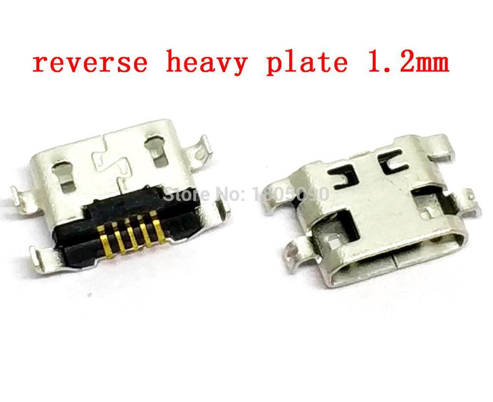 50pcs-micro-usb-connector-5pin-reverse-heavy-plate-12mm-flat-mouth-without-curling-side-female-for-mobile-phone-mini-usb-jack