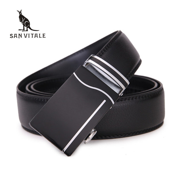 Men's Belts 2017 Hot Fashion Cowhide Leather Straps New Designer Luxury Famous High quality Automatic buckles waistband for male