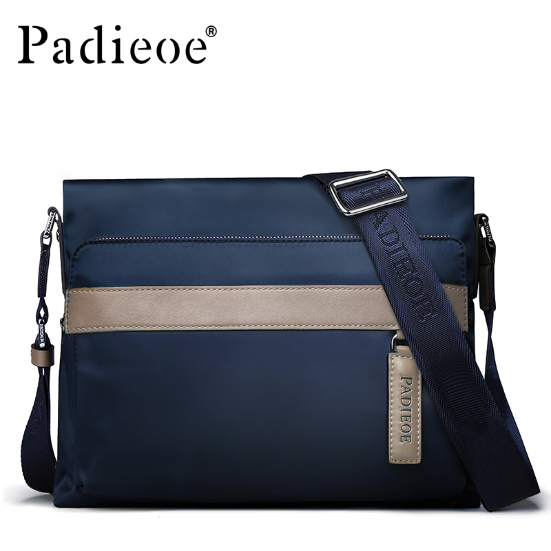 Padieoe New Fashion Canvas Men Bags High Quality Crossbody Shoulder Bag Business Men Messenger Bag плоская шлифмашина black