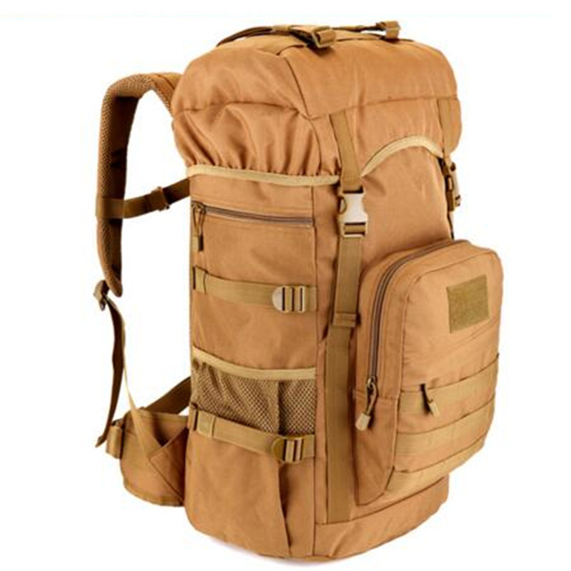 Men of high quality nylon backpack travel 50 l military camouflage 17 inch flat panel School