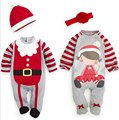 Christmas Gifts baby boy girl clothes bebes rompers kids long sleeve clothing set baby suits top + headband or hatretail 2017